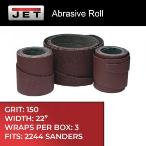 "22"" Sandpaper 150 Grit, 3-Wraps in Box"
