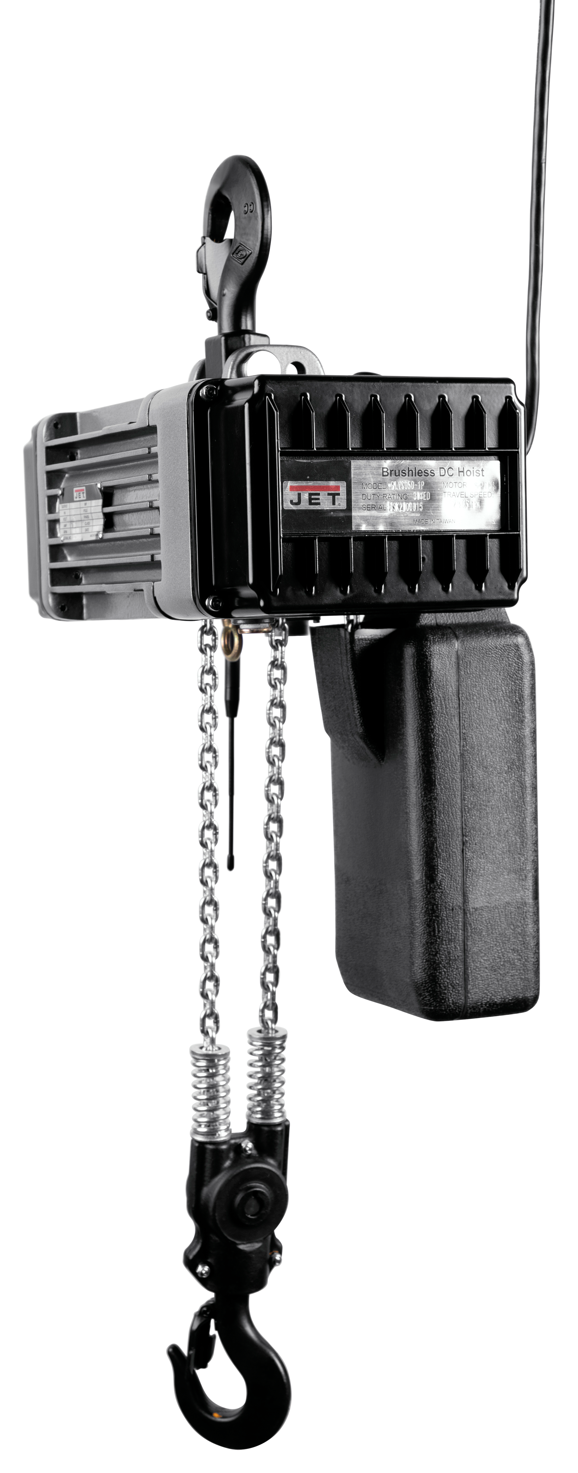 JET® Trademaster® Series electric hoists combines safety, portability, and durability to operate in