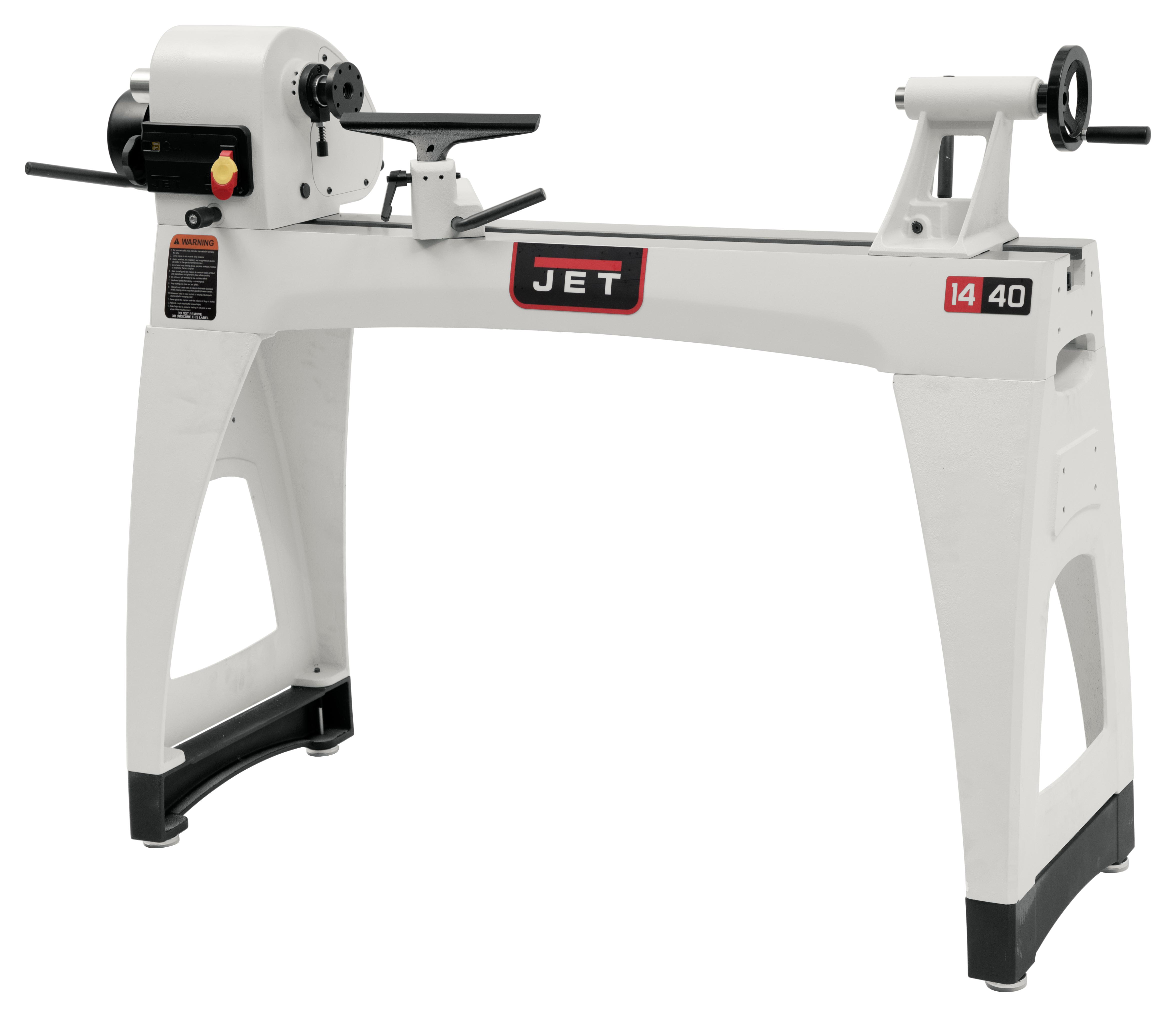 "JWL-1440VSK 14"" x 40"" Wood Lathe with Legs"