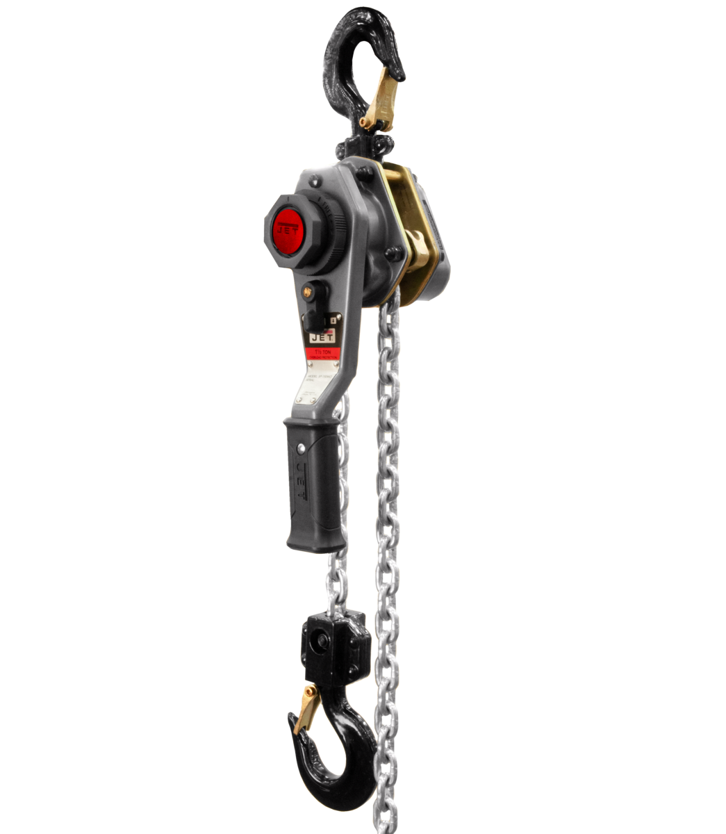 JLH-150WO-15, 1-1/2 Ton, LEVER HOIST with  15' LIFT with Overload Protection