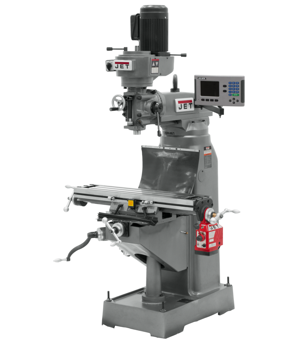 JVM-836-3 Mill With 3-Axis ACU-RITE 203 DRO (Knee) With X and Y-Axis Powerfeeds