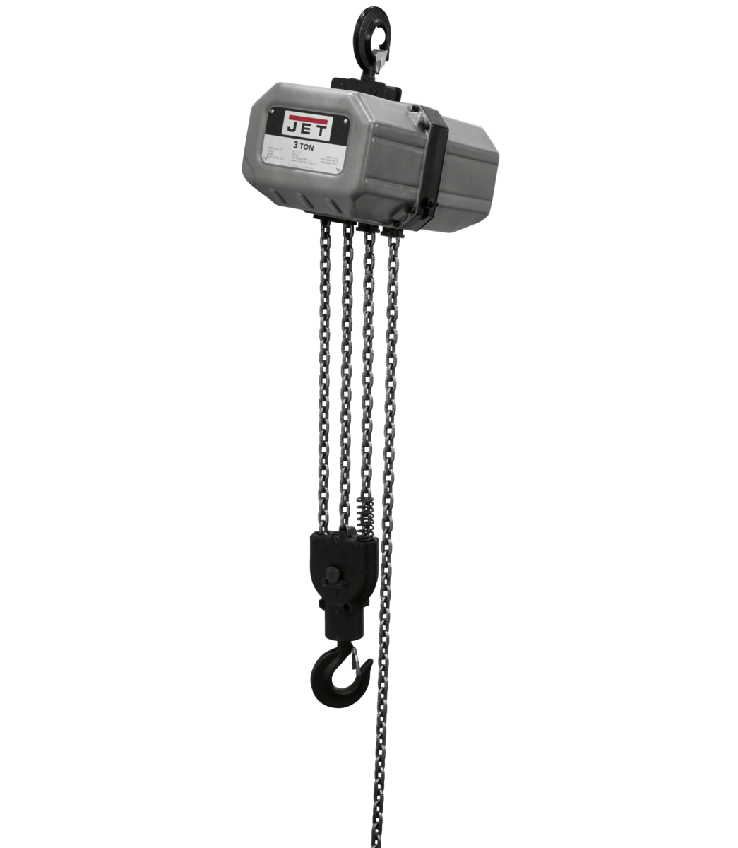 3SS-1C-15, 3-Ton Electric Chain Hoist 1-Phase 15' Lift