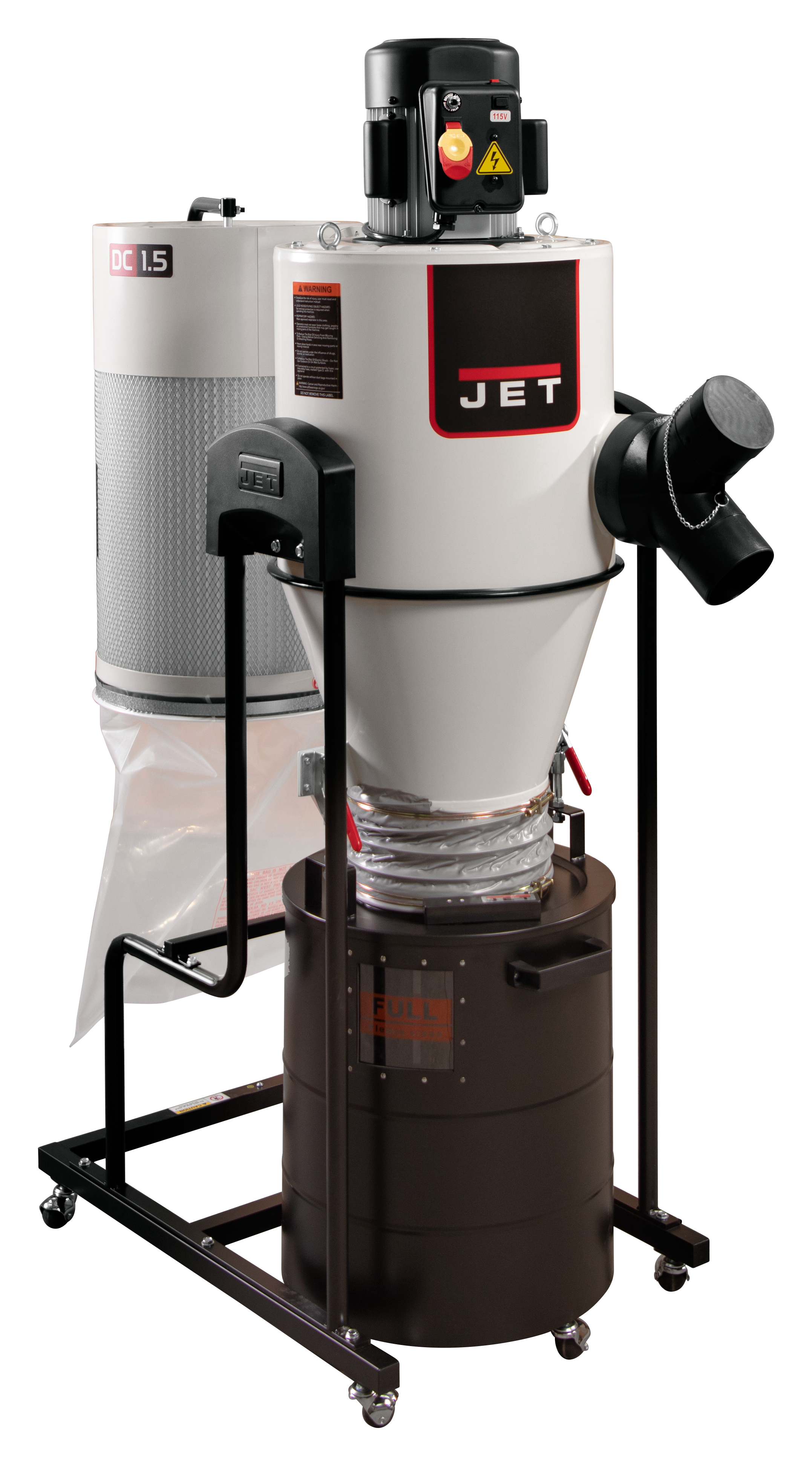 JCDC-1.5 Cyclone Dust Collector, 1.5HP, 115V