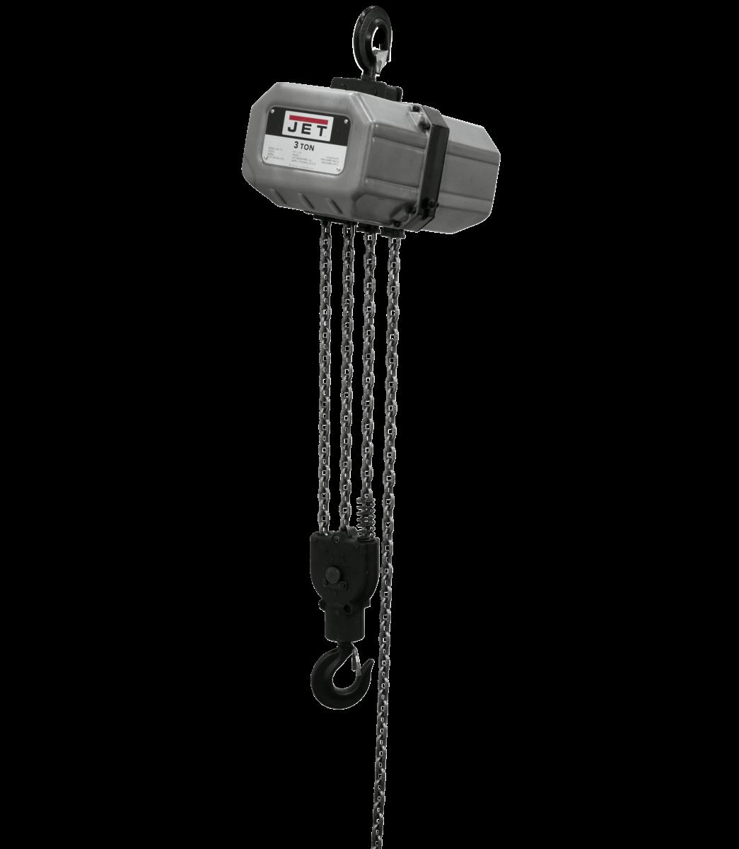 3SS-1C-10, 3-Ton Electric Chain Hoist 1-Phase 10' Lift