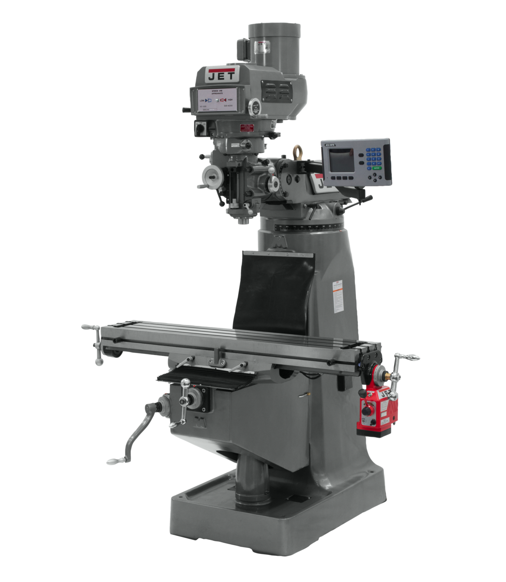 JTM-4VS-1 Mill With ACU-RITE 203 DRO With X-Axis Powerfeed