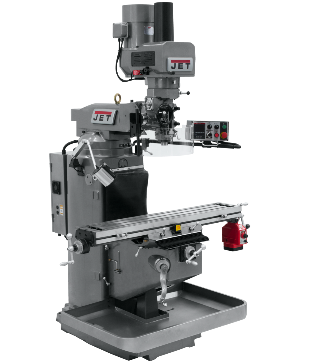 JTM-949EVS Mill With X-Axis Powerfeed and Air Powered Draw Bar