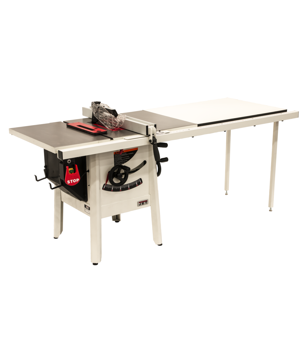 "The JPS-10 1.75 HP 115V 52"" Proshop Tablesaw with Cast wings"