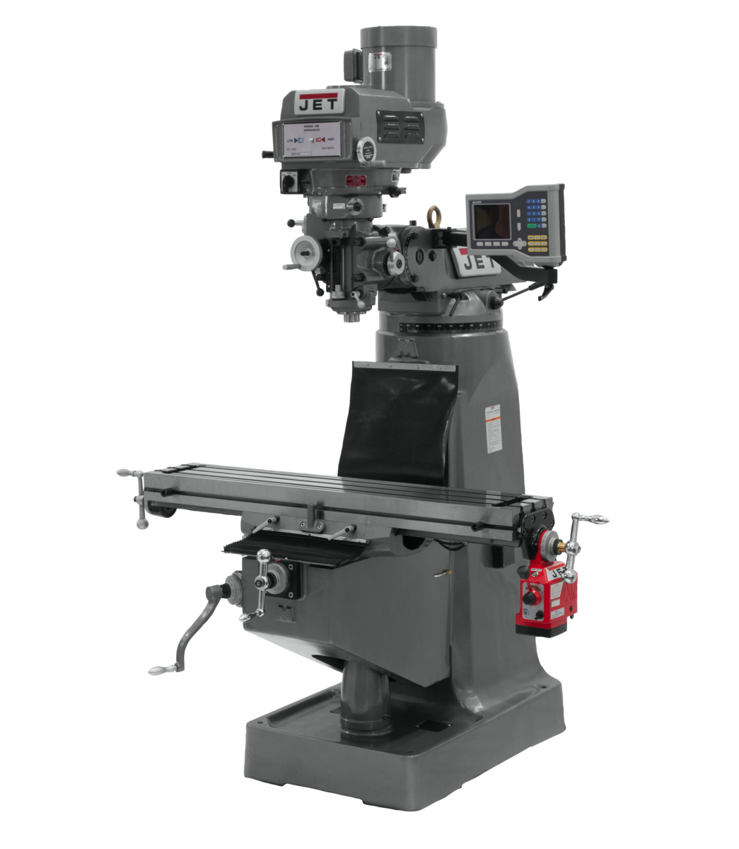 JTM-4VS-1 Mill With ACU-RITE 303 DRO With X-Axis Powerfeed
