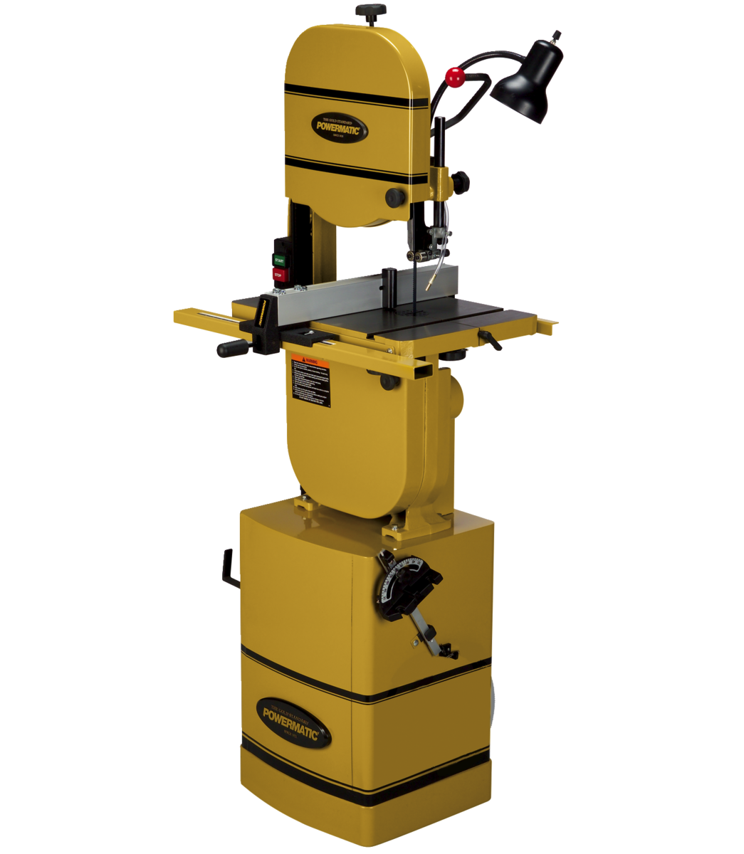 """PWBS-14CS  14"""" Bandsaw with Stand and Riser Block"""