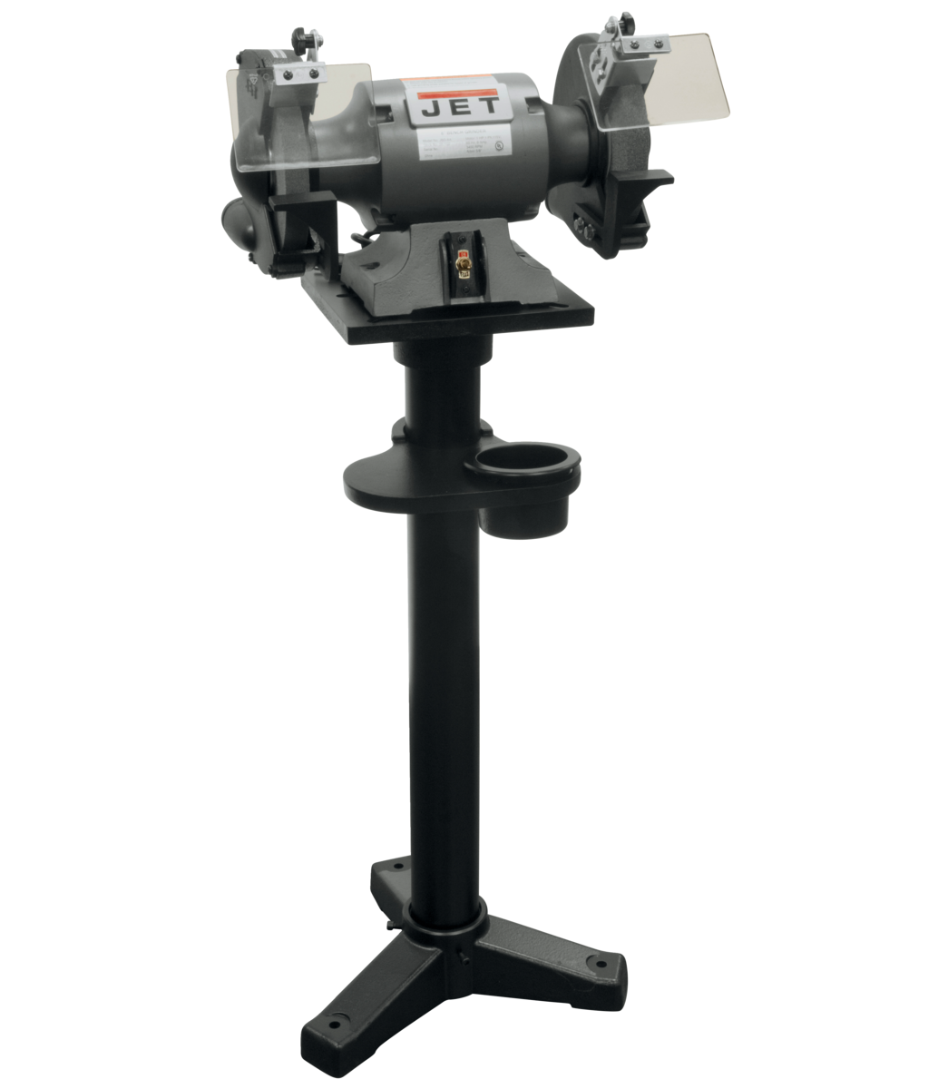 "JBG-8A/JBG-8B 8"" Shop Bench Grinder and JPS-2A Stand"