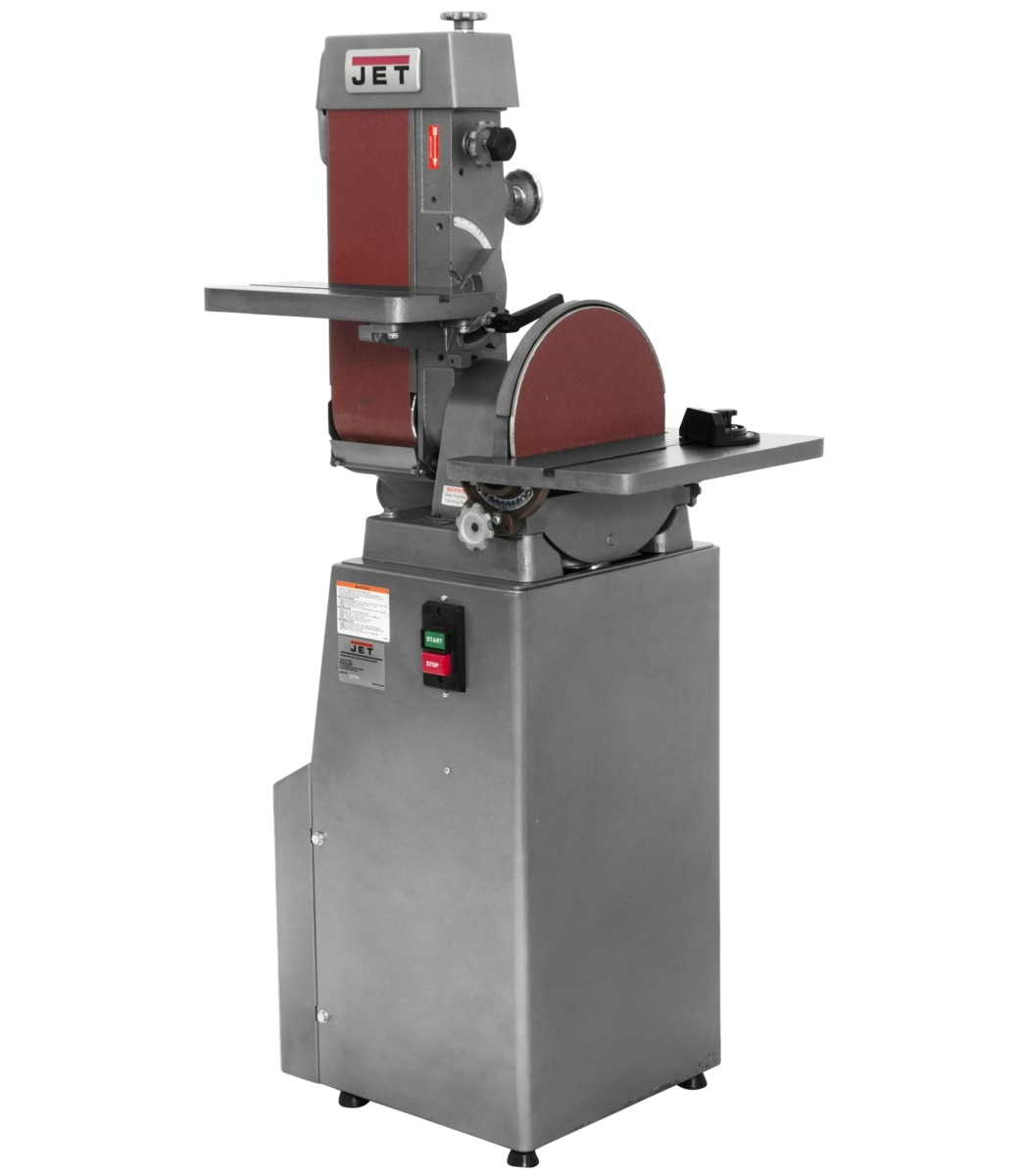 "J-4202A, 6"" x 48"" Industrial Combination Belt and 12"" Disc Finishing Machine 230V 3Ph"