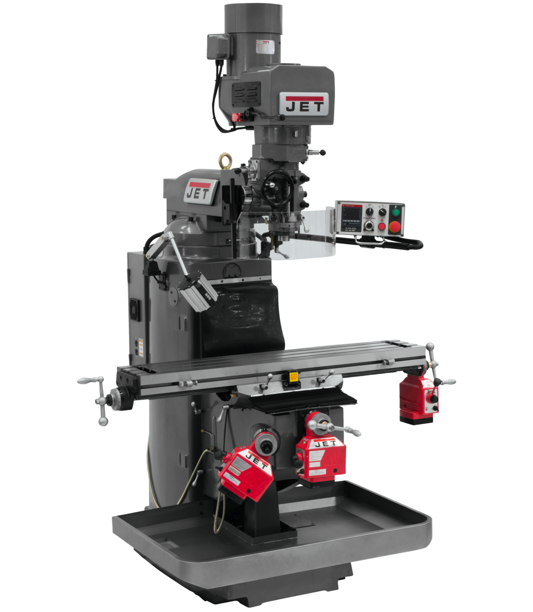JTM-949EVS Mill With X, Y and Z-Axis Powerfeeds