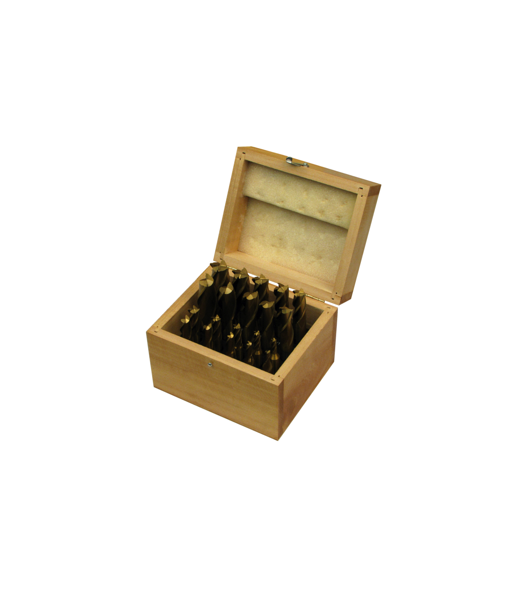 20 Piece Tin-Coated Single End Mill Set
