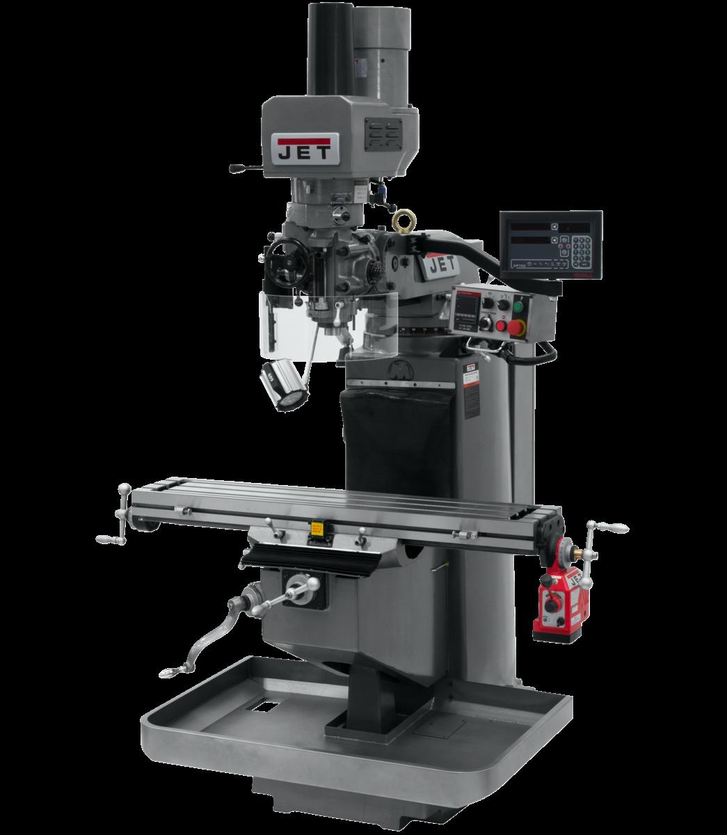 JTM-949EVS with Newall DP700 DRO, X Powerfeed & Air Power Drawbar