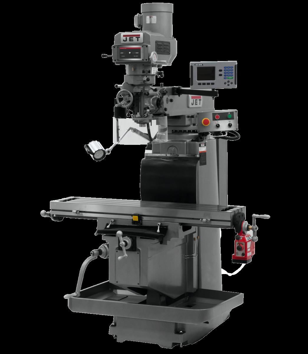 JTM-1254RVS with  ACU-RITE 203 3X (Q) DRO &  X Powerfeed