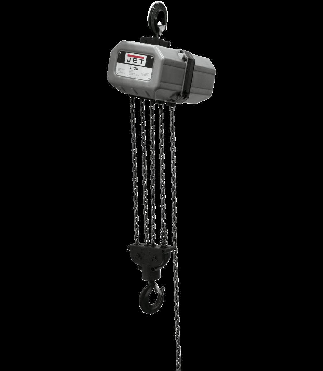 5SS-3C-15, 5-Ton Electric Chain Hoist 3-Phase 15' lift
