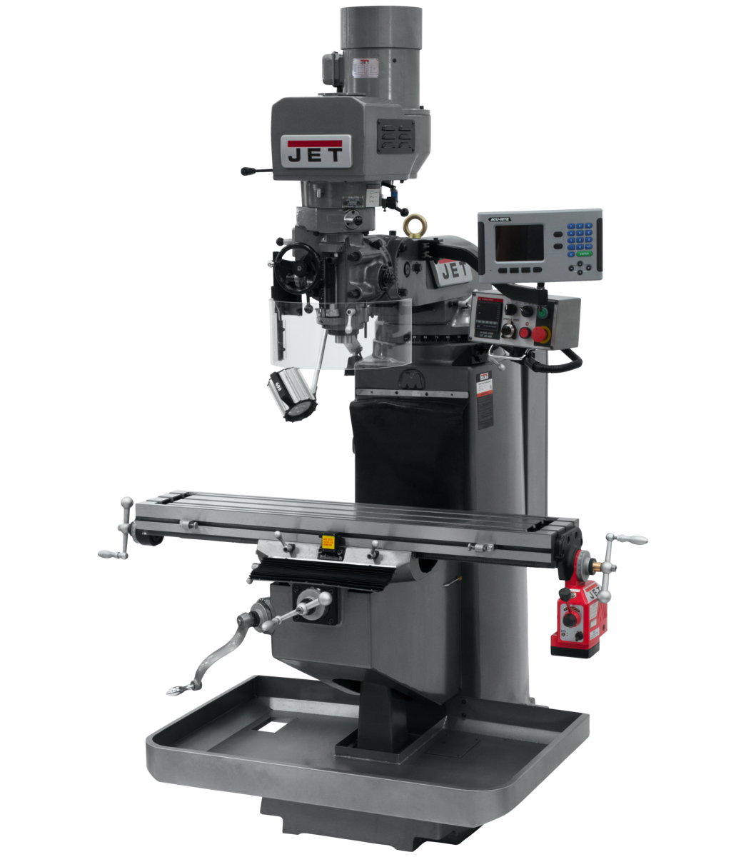 JTM-949EVS Mill With 3-Axis Acu-Rite 203 DRO (Quill) With X-Axis Powerfeed