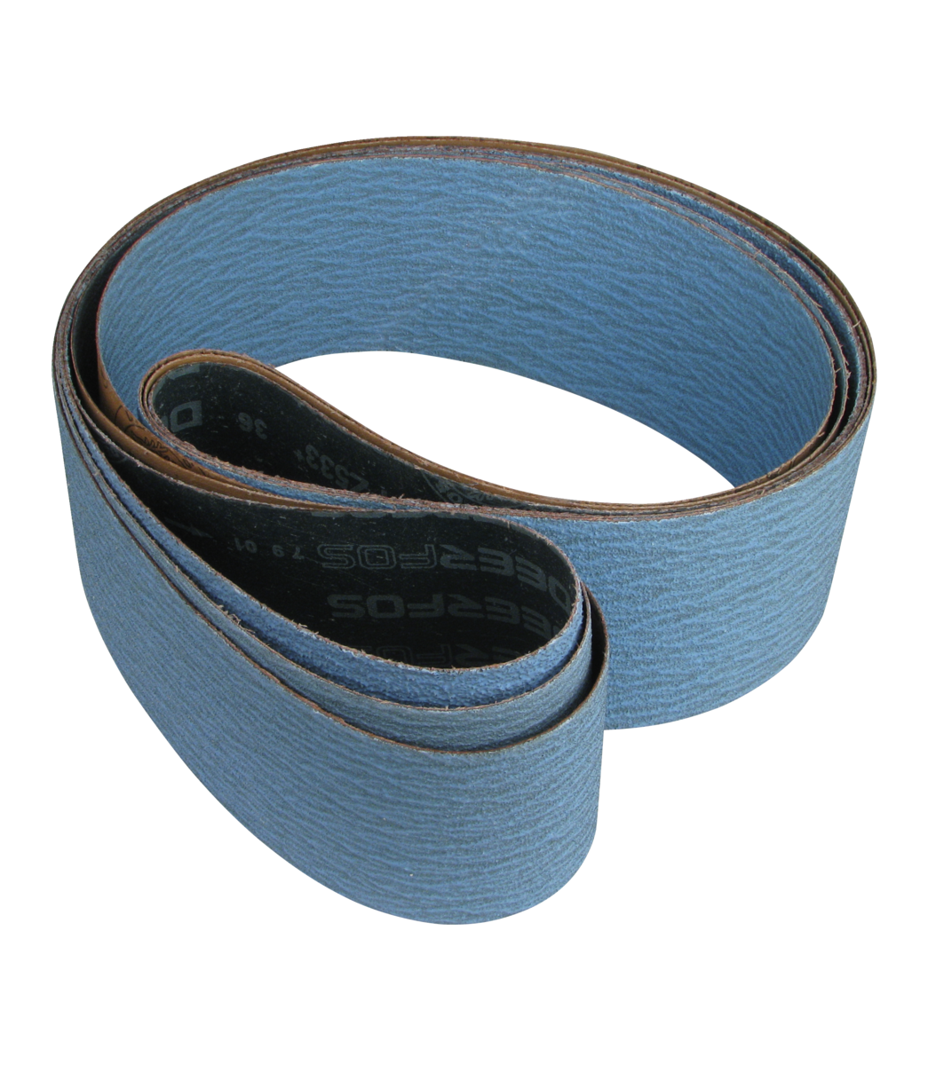 3-Piece Abrasive Belts for Jet Dual Station Abrasive Notcher ,  36/60/80 Grit
