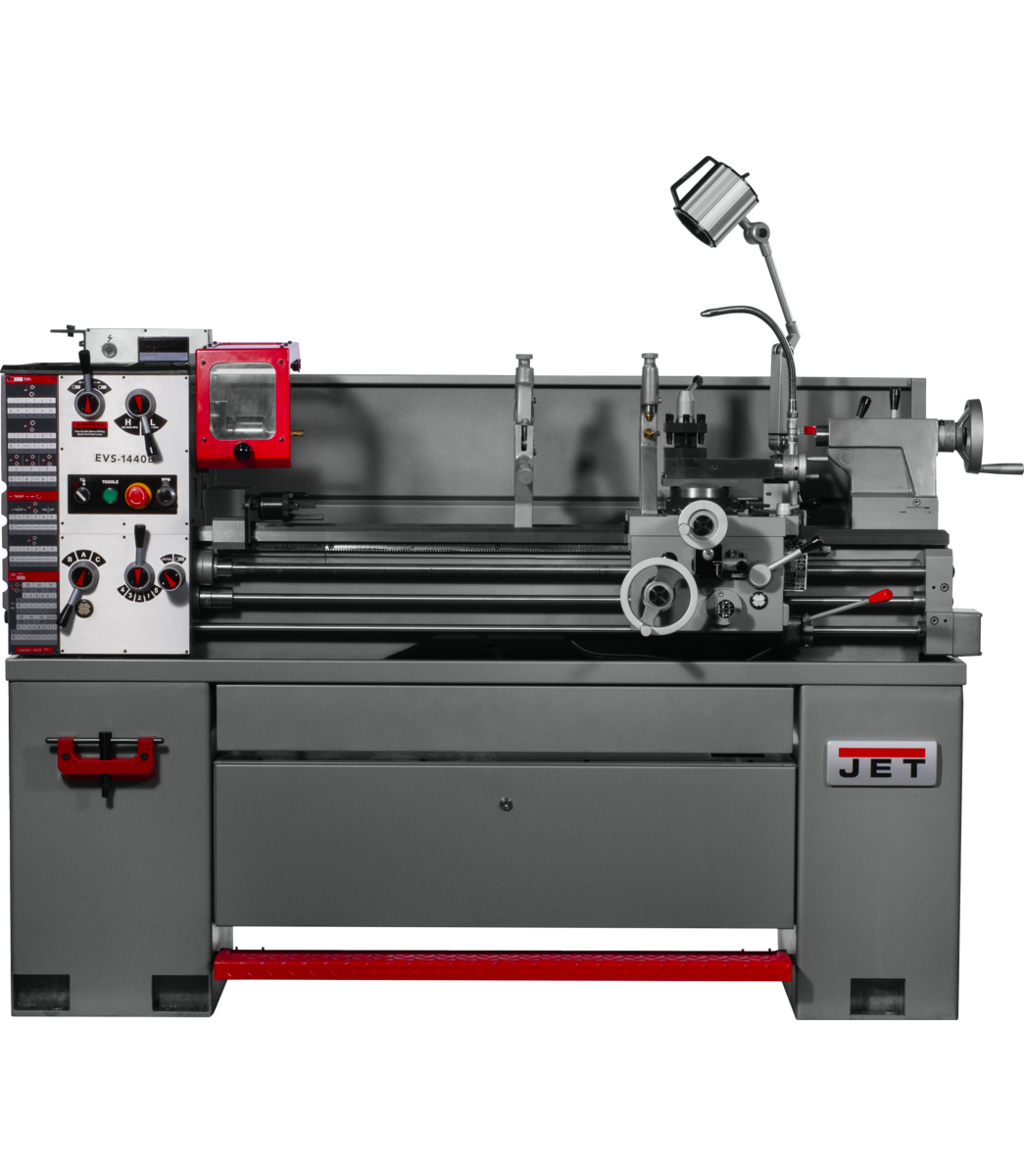 EVS-1440 Electronic Variable Speed lathe with Acu-Rite 203 DRO,3HP