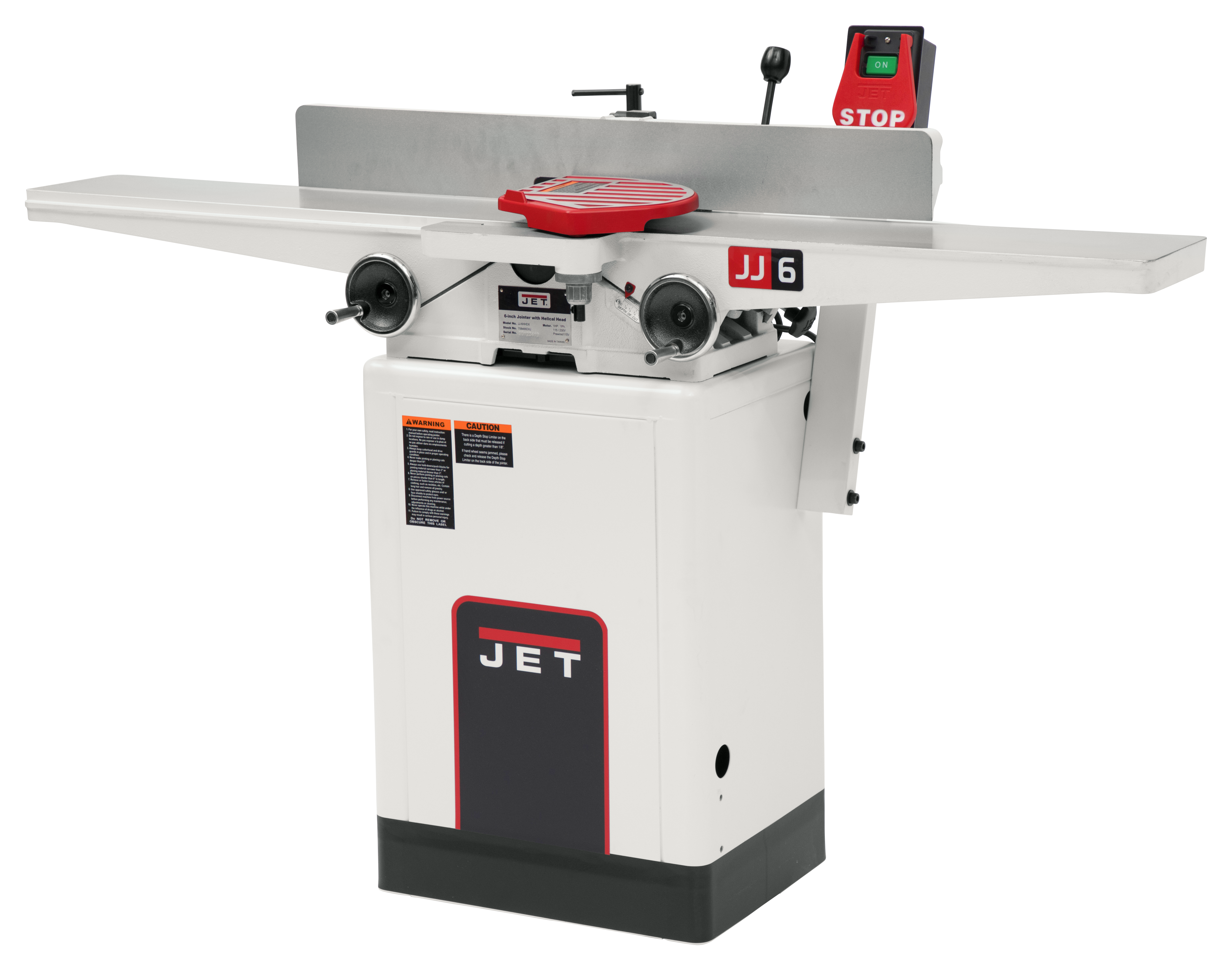 """JJ-6HHDX, 6"""" Long Bed Wood Jointer with Helical Head Kit"""