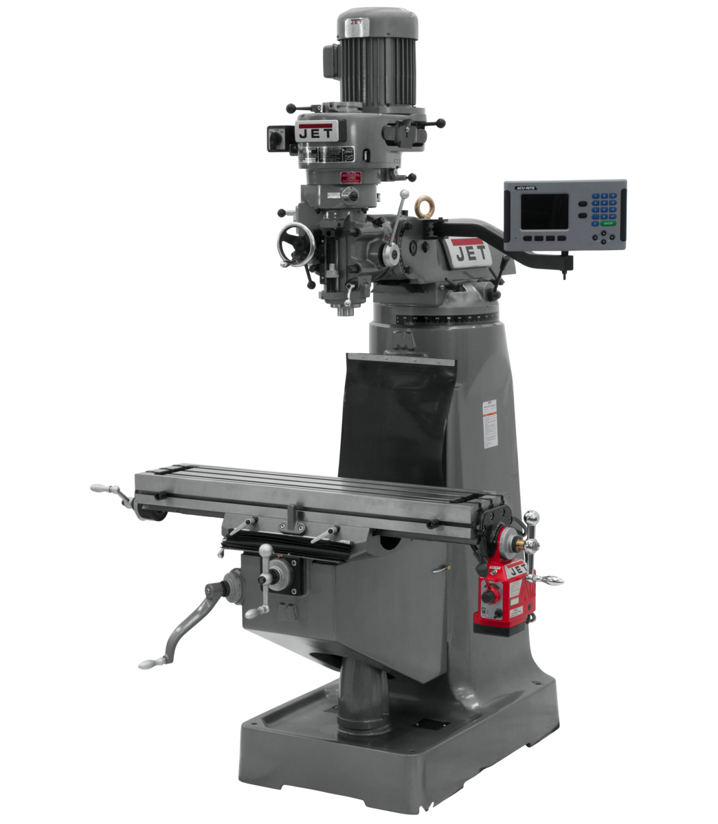JTM-2 Mill With 3-Axis ACU-RITE 203 DRO (Quill) With X-Axis Powerfeed