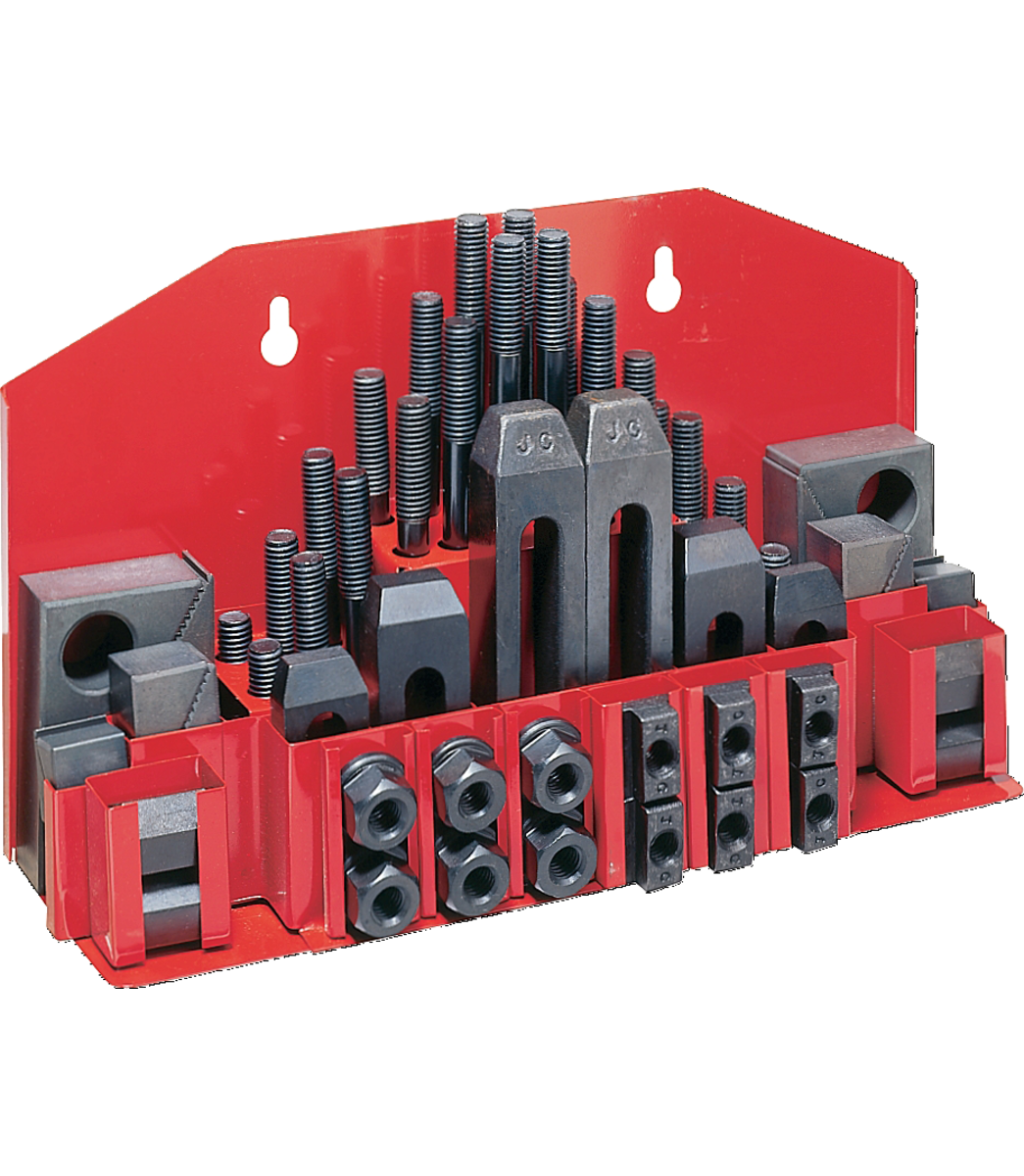 """CK-38, 58-Piece Clamping Kit with Tray for 1/2"""" T-Slot"""