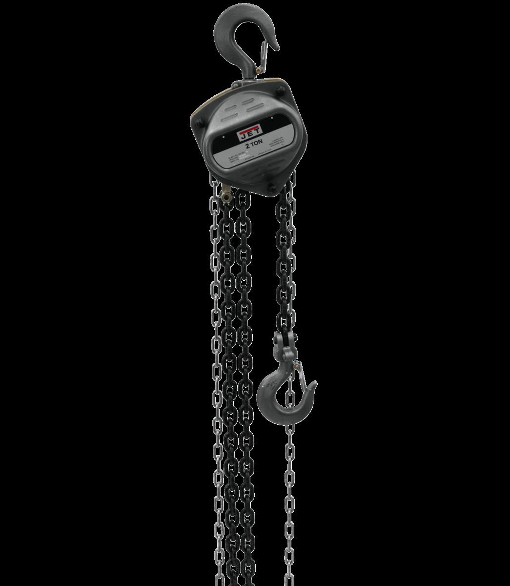 S90-200-10, 2-Ton Hand Chain Hoist With 10' Lift