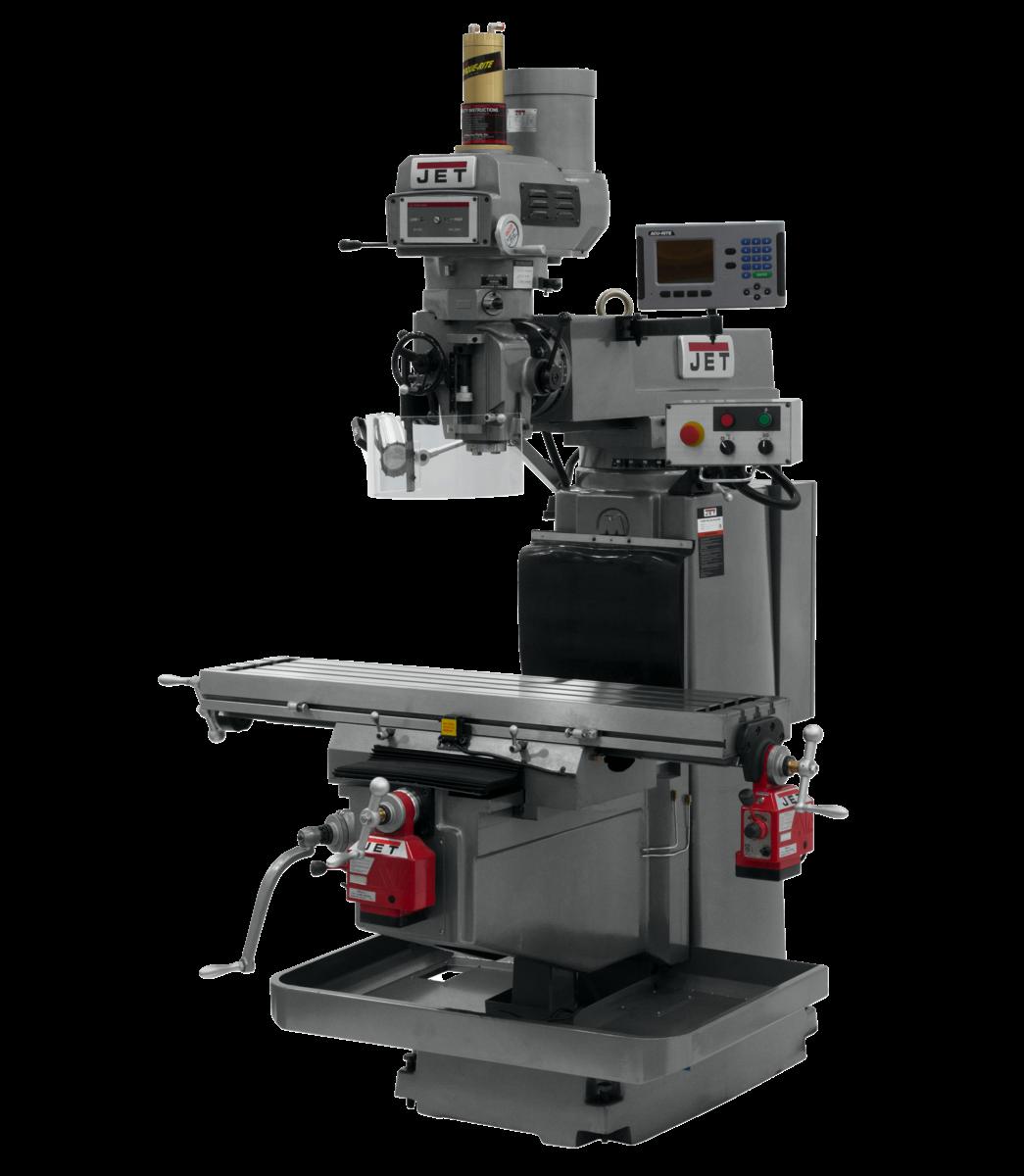 JTM-1254VS with  ACU-RITE   203 3X (K) DRO,  X & Y  Powerfeeds & Air Power Drawbar
