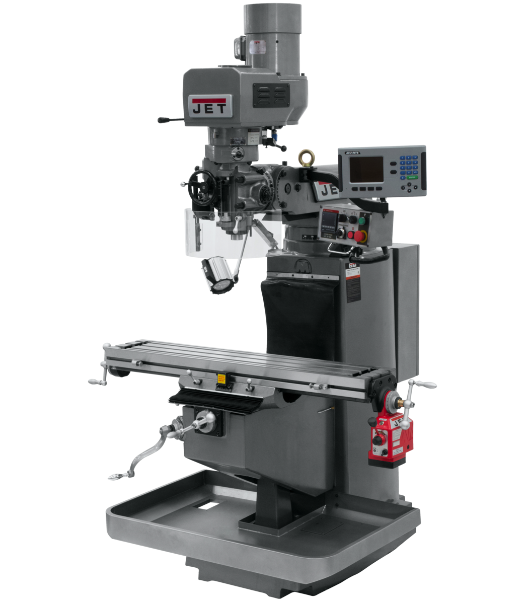 JTM-949EVS Mill With Acu-Rite 203 DRO With X-Axis Powerfeed