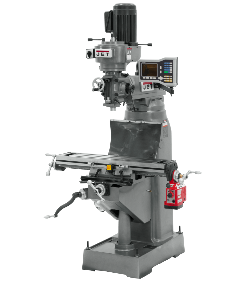 JVM-836-1 Mill With 3-Axis ACU-RITE VUE DRO (Quill) With X-Axis Powerfeeds