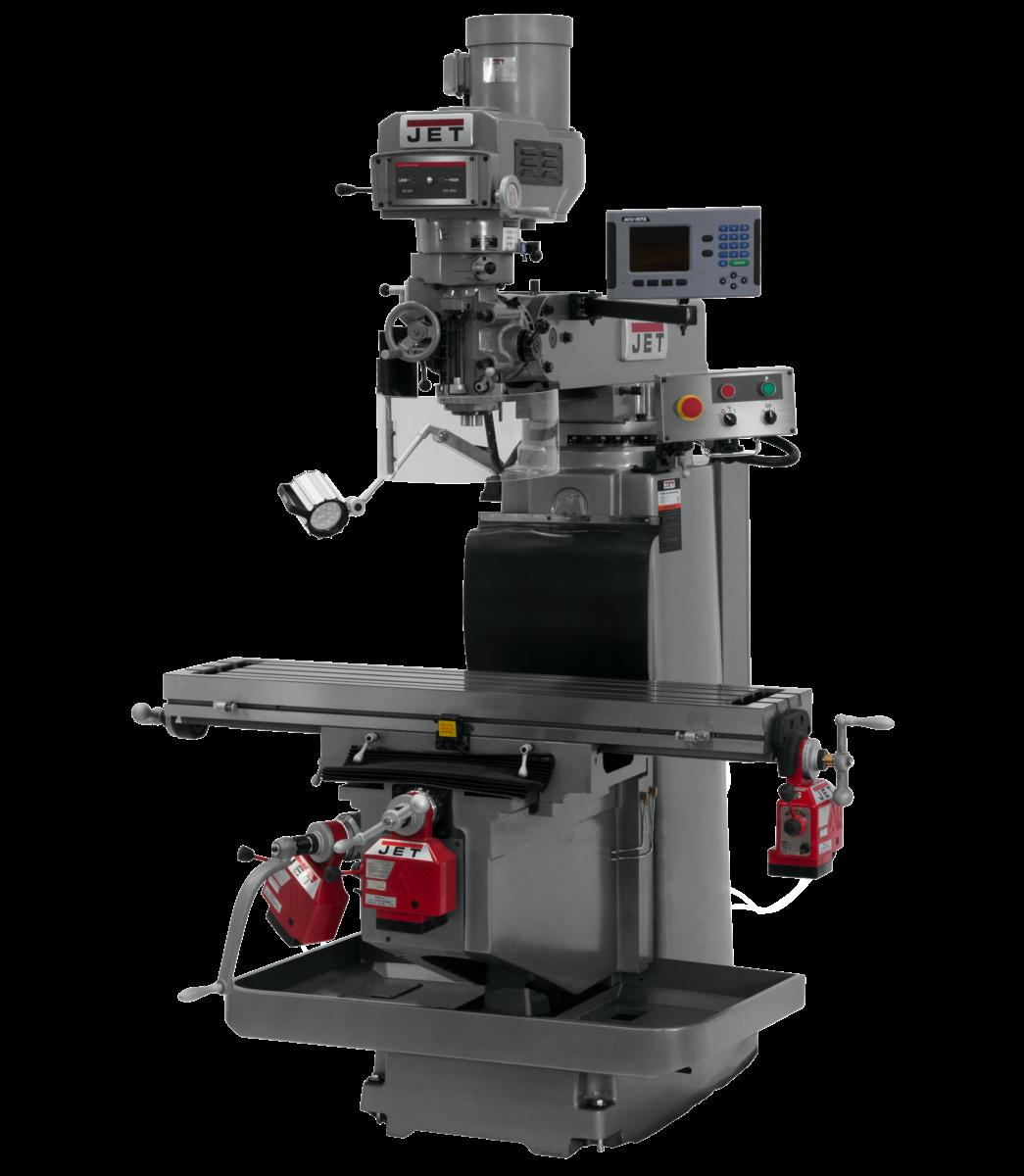 JTM-1254RVS with  ACU-RITE 203 3X (Q) DRO,  X,Y&Z   Powerfeeds