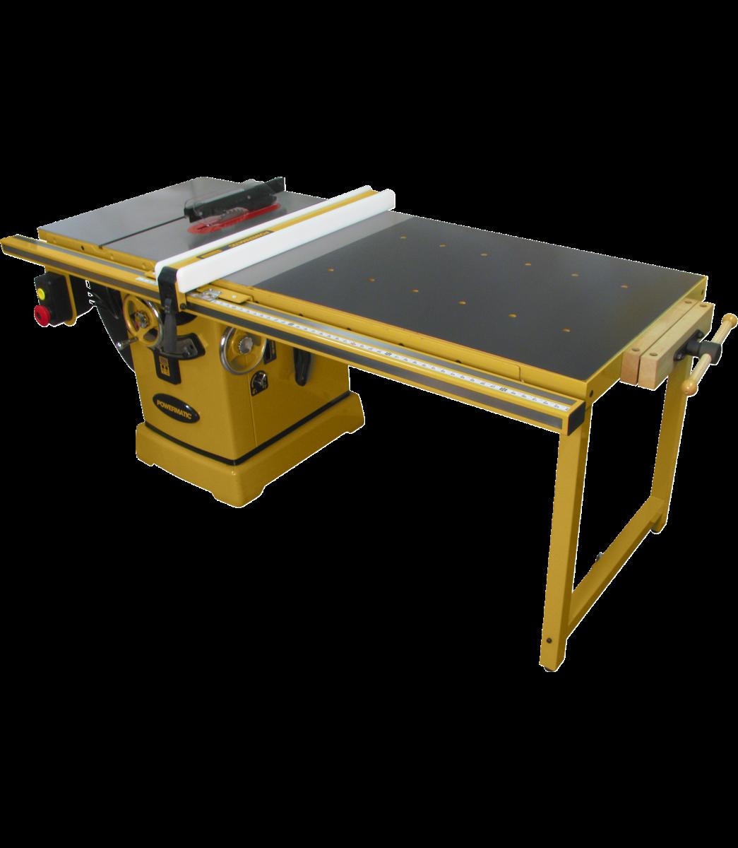 """2000B table saw - 5HP 3PH 230/460V 50"""" RIP w/Accu-Fence & Workbench"""