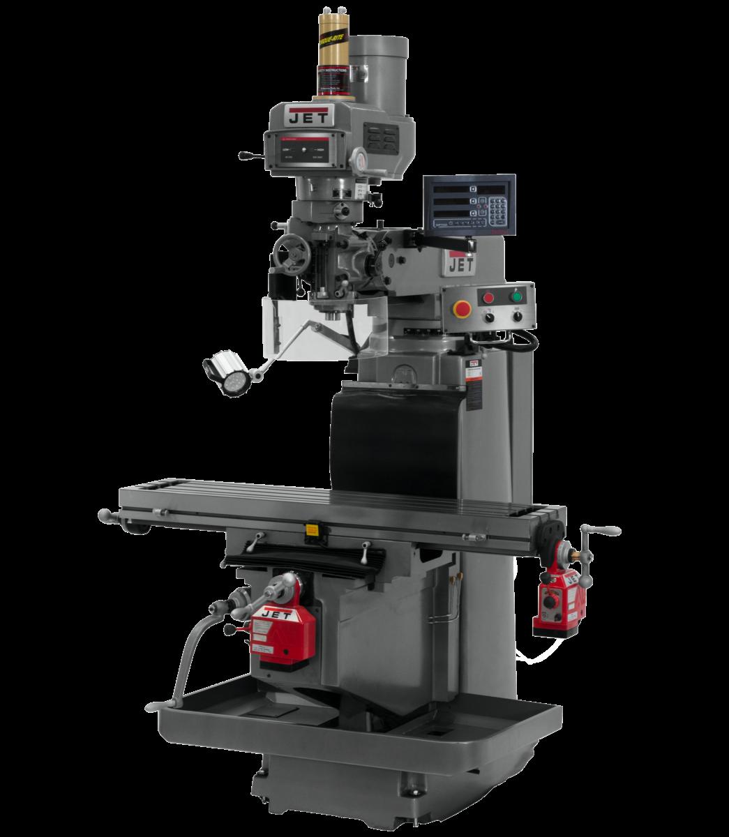 JTM-1254RVS with NEWALL DP700 3X (K) DRO,  X & Y Powerfeeds & Air Power Drawbar