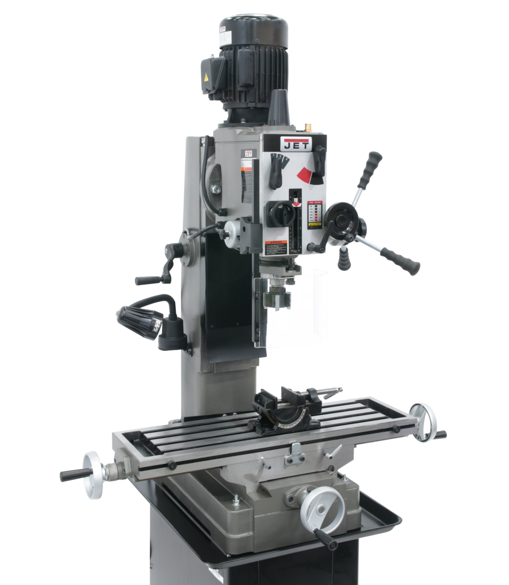 JMD-45GH Geared Head Square Column Mill/Drill with Newall DP500 2-Axis DRO & X-Powerfeed