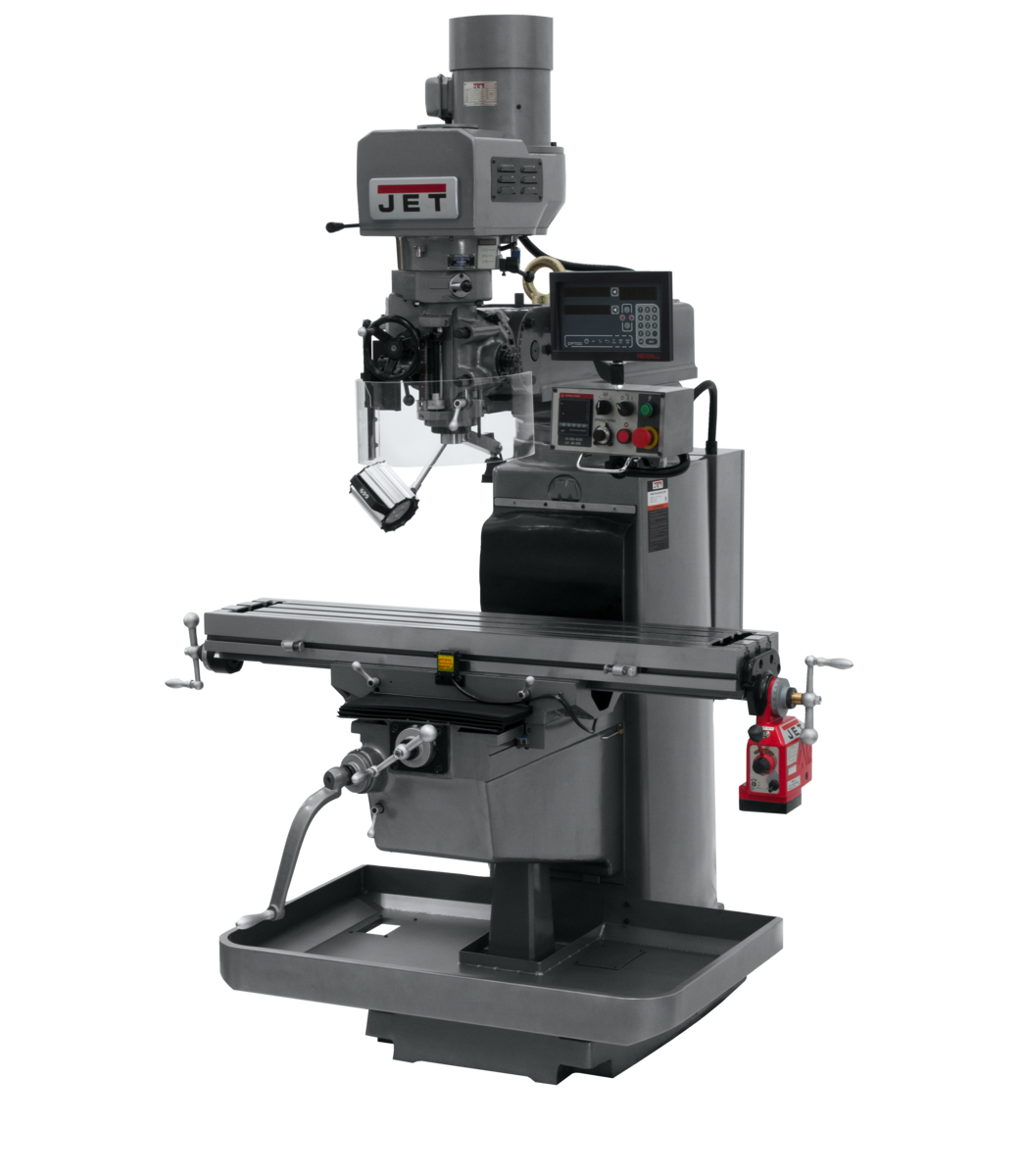 JTM-1050EVS2/230 Mill With Newall DP700 DRO With X-Axis Powerfeed