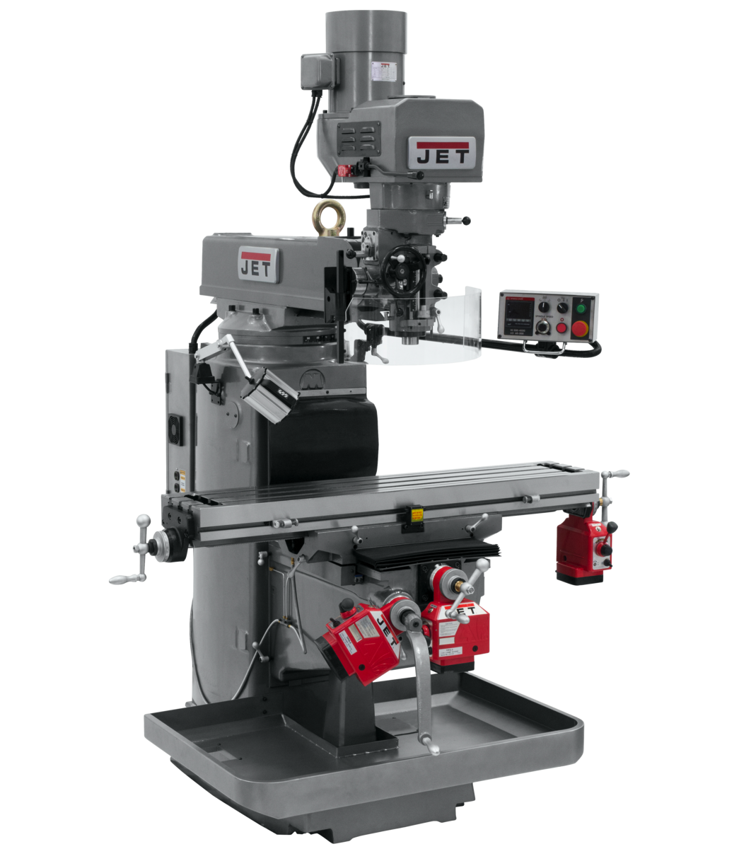 JTM-1050EVS2/230 Mill With X, Y and Z-Axis Powerfeeds