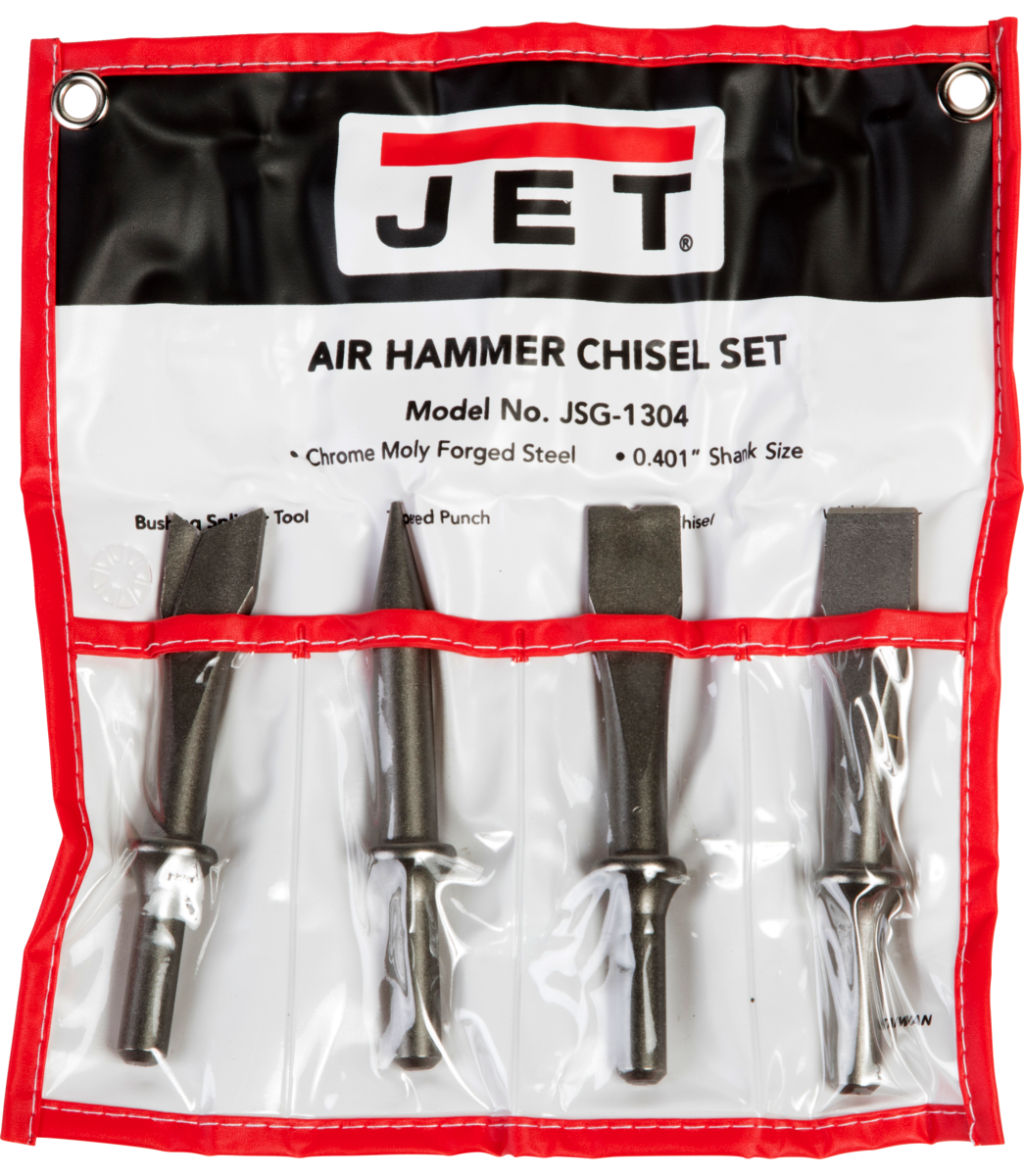 JSG-1304, 4-Piece Chisel Set for Riveting Hammers