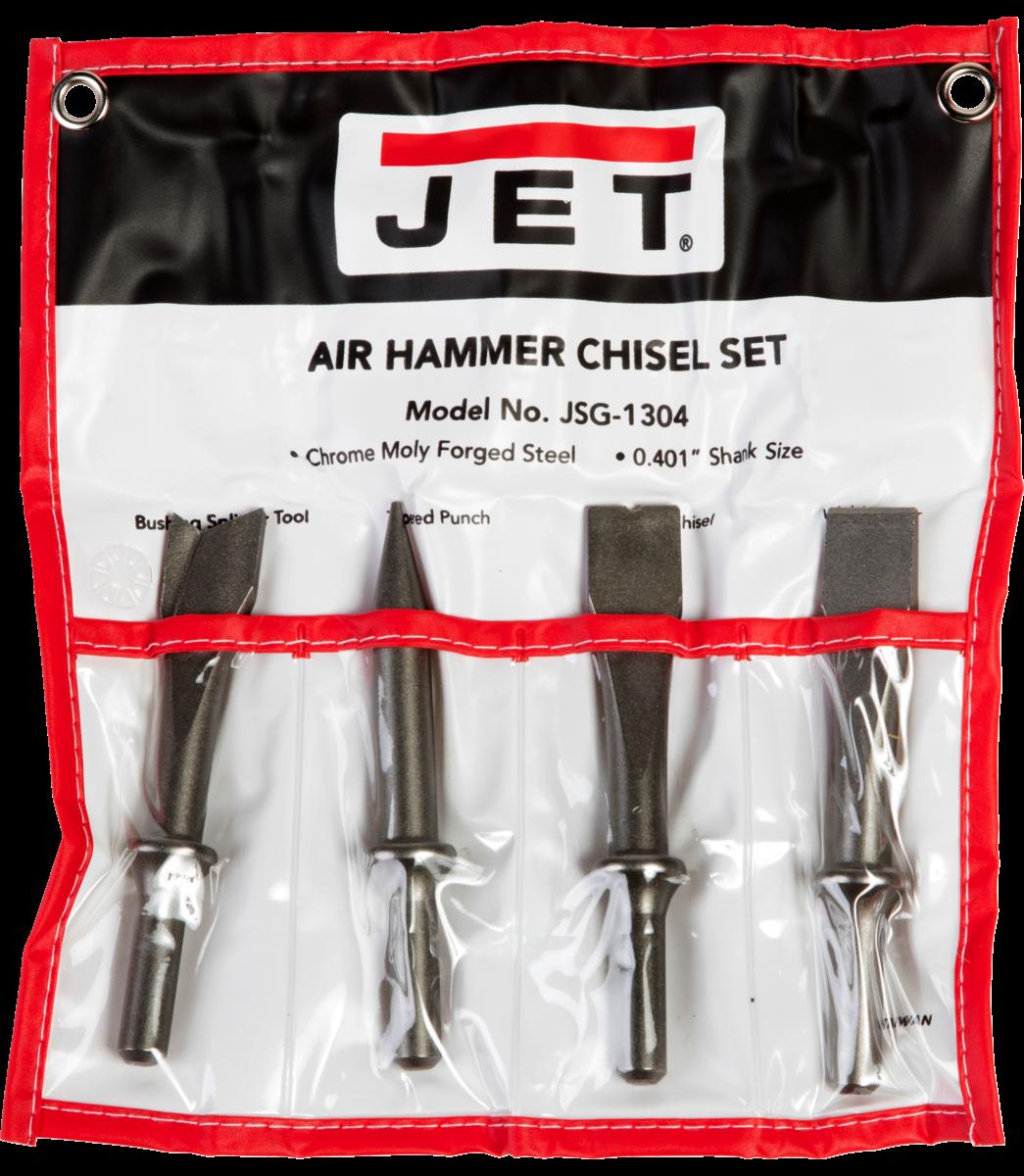 JSG-1304, juego de escoplo de 4 piezas para atornilladores neumáticos