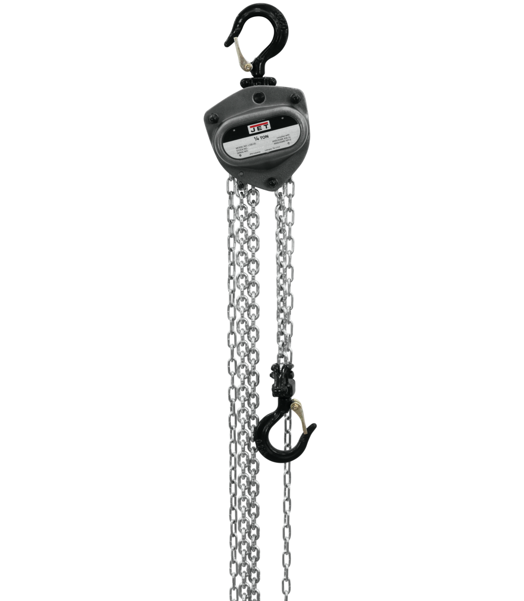 L-100-250WO-20, 1/4-Ton Hand Chain Hoist With 20' Lift & Overload Protection
