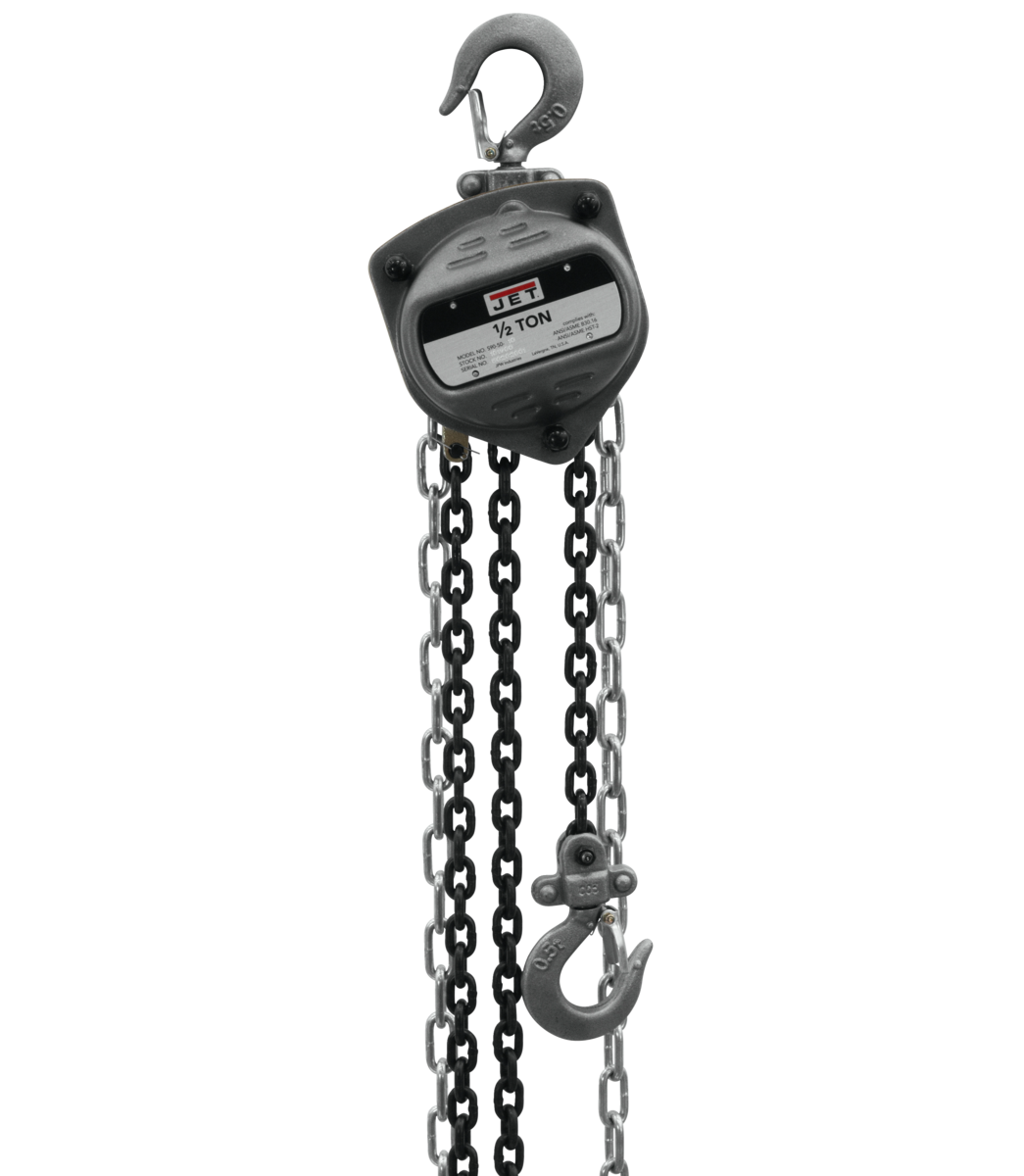 S90-050-15, 1/2-Ton Hand Chain Hoist With 15' Lift