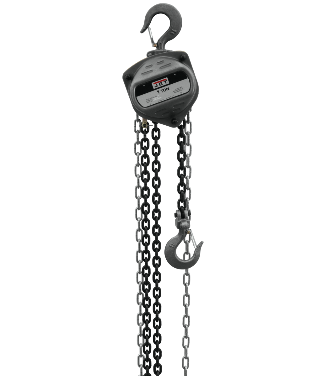 S90-100-20, 1-Ton Hand Chain Hoist With 20' Lift