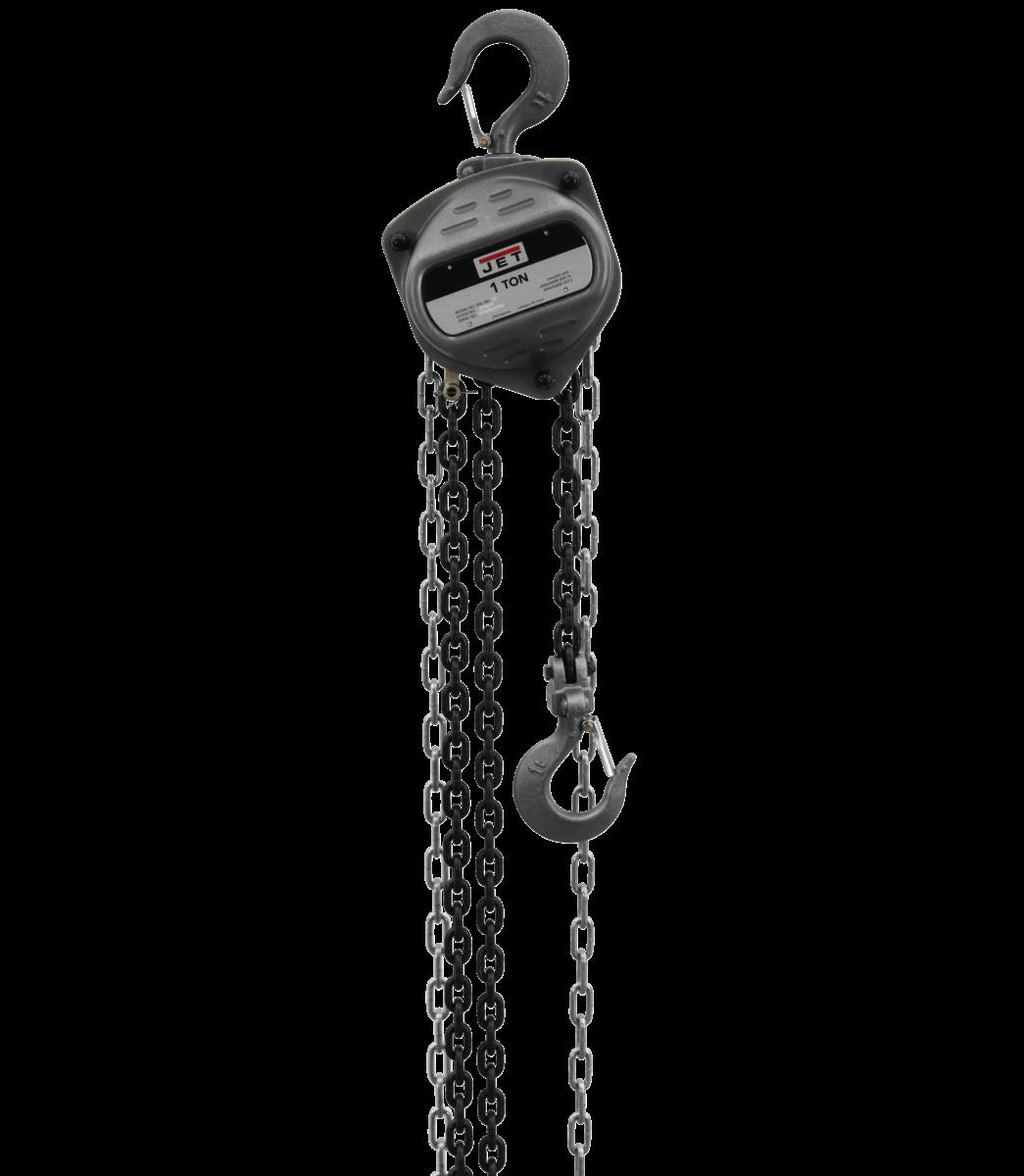 S90-100-30, 1-Ton Hand Chain Hoist With 30' Lift