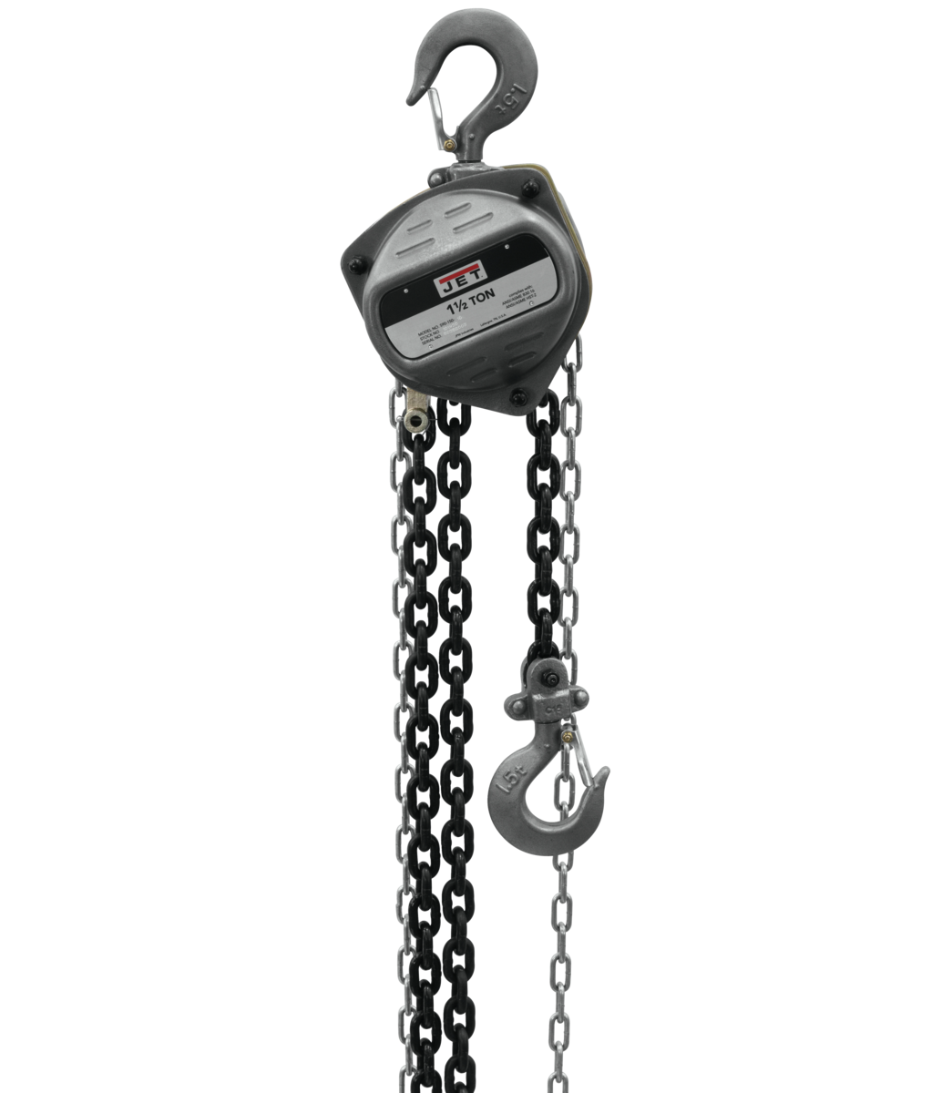 S90-150-20, 1-1/2-Ton Hand Chain Hoist With 20' Lift