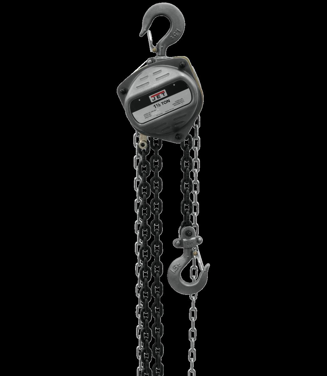 S90-150-30, 1-1/2-Ton Hand Chain Hoist With 30' Lift