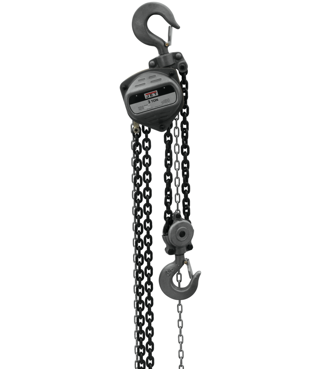 S90-300-30, 3-Ton Hand Chain Hoist With 30' Lift