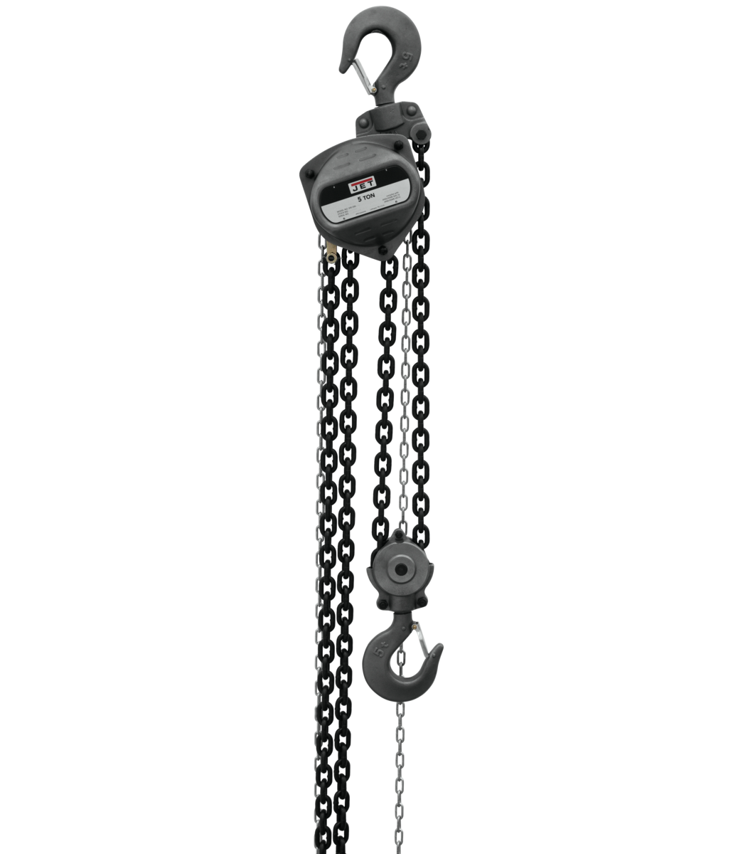 S90-500-10, 5-Ton Hand Chain Hoist With 10' Lift