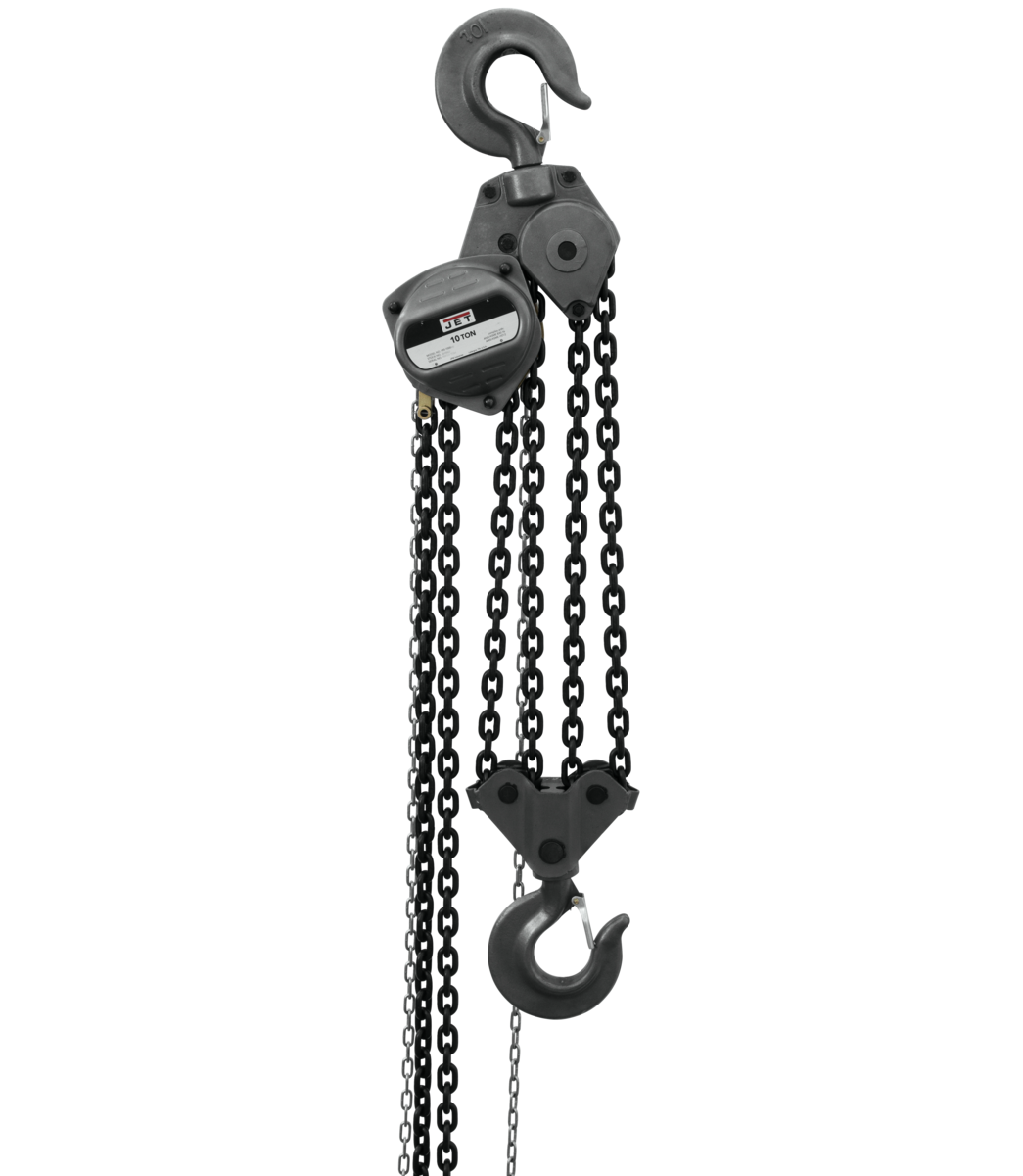 S90-1000-30, 10-Ton Hand Chain Hoist With 30' Lift