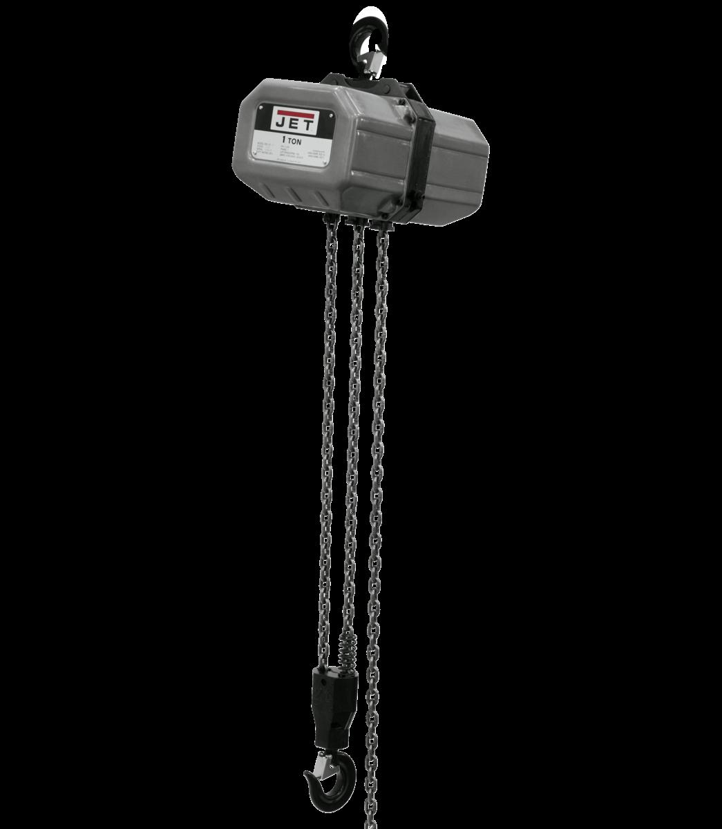 1SS-1C-20, 1 tonelada, monofásico, elevación de 20', 115/230 V, 230 V precableado