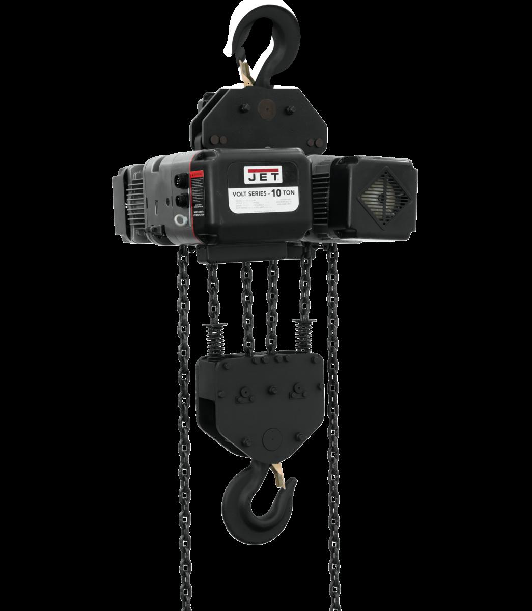 VOLT 10T VARIABLE-SPEED ELECTRIC HOIST 3PH 460V 20' LIFT