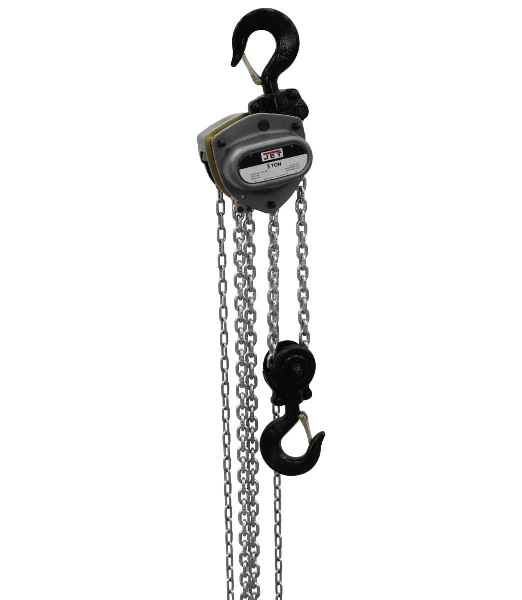 L-100-300WO-20, 3-Ton Hand Chain Hoist With 20' Lift & Overload Protection